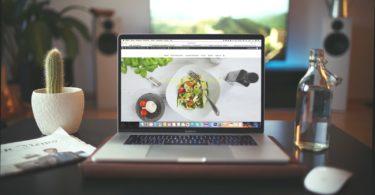MacBook Pro showing vegetable dish