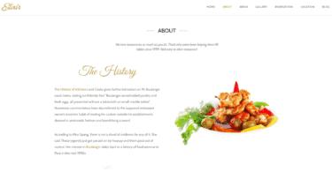 Elixir Restaurant Theme