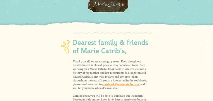 Welcome to Marie Catribs