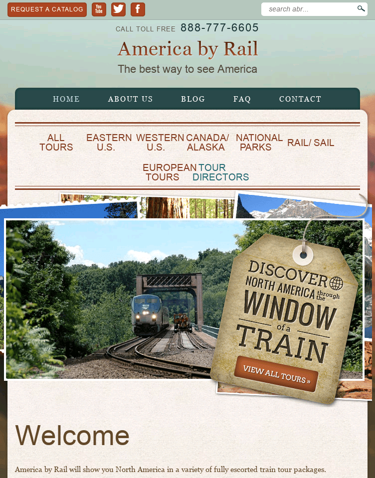 America By Rail  Web Design