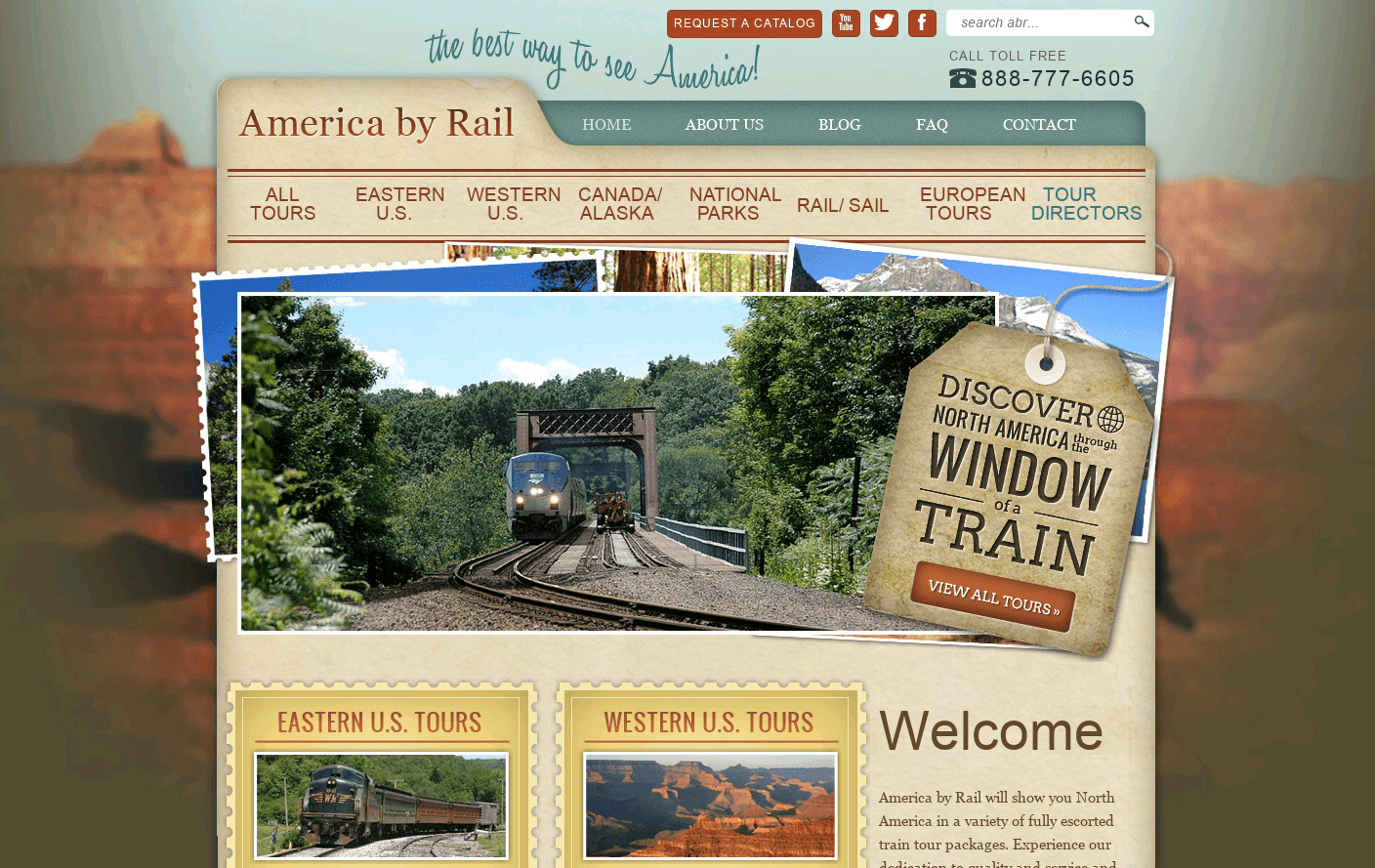 America By Rail Website is a Web Design Inspiration