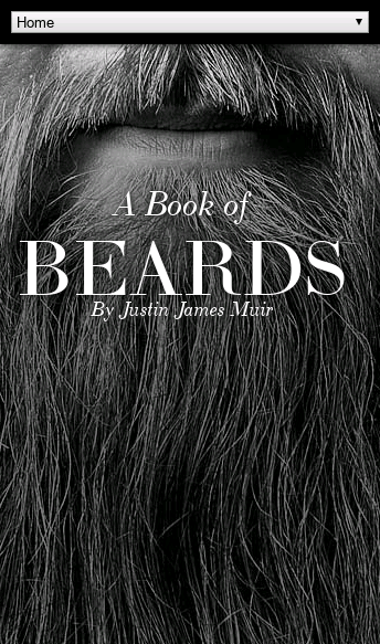 A Book of Beards  Web Design