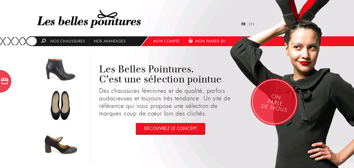 les belles pointures website has a great web design best web designs. Black Bedroom Furniture Sets. Home Design Ideas