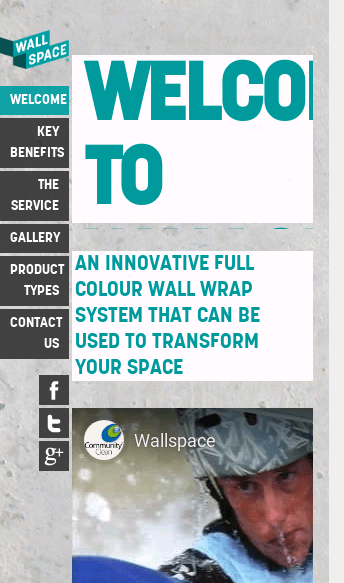 Wall Space Viny  Web Design