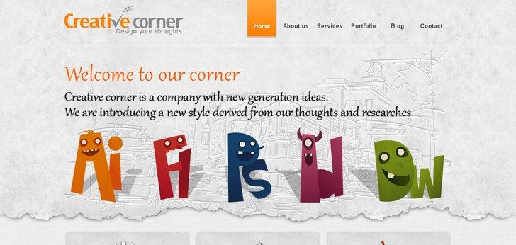 Creative Corner Website Has A Great Web Design
