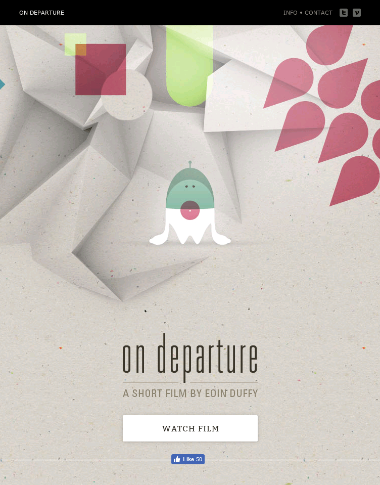 ON DEPARTURE  Web Design