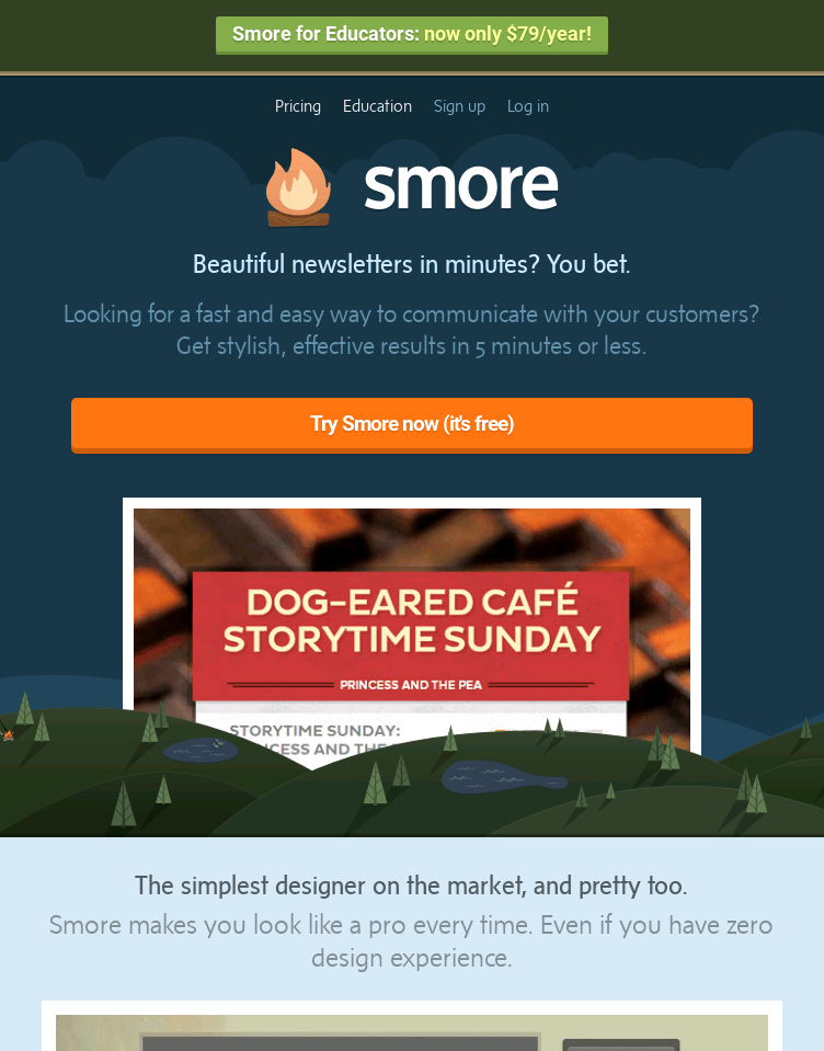 Smore Newsletters   Web Design