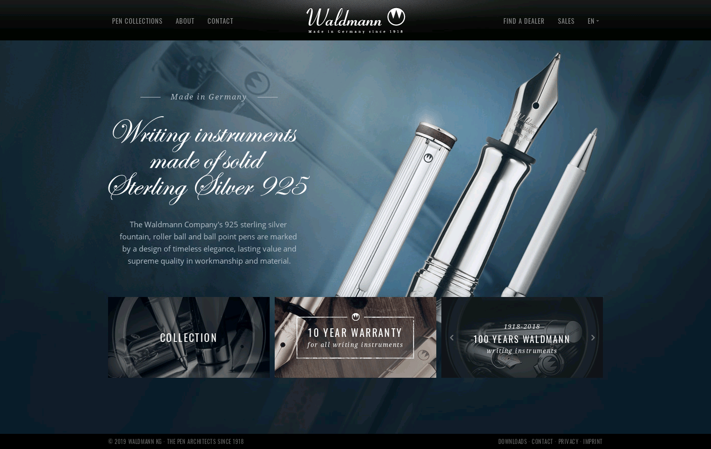 Waldmann - Exclusive Pens from Sterling Silver 925