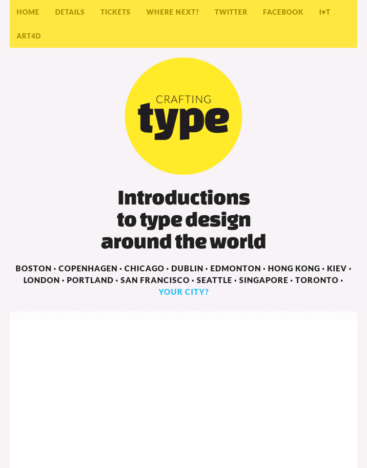 Crafting Type: Font Design Workshops For Beginners  Web Design
