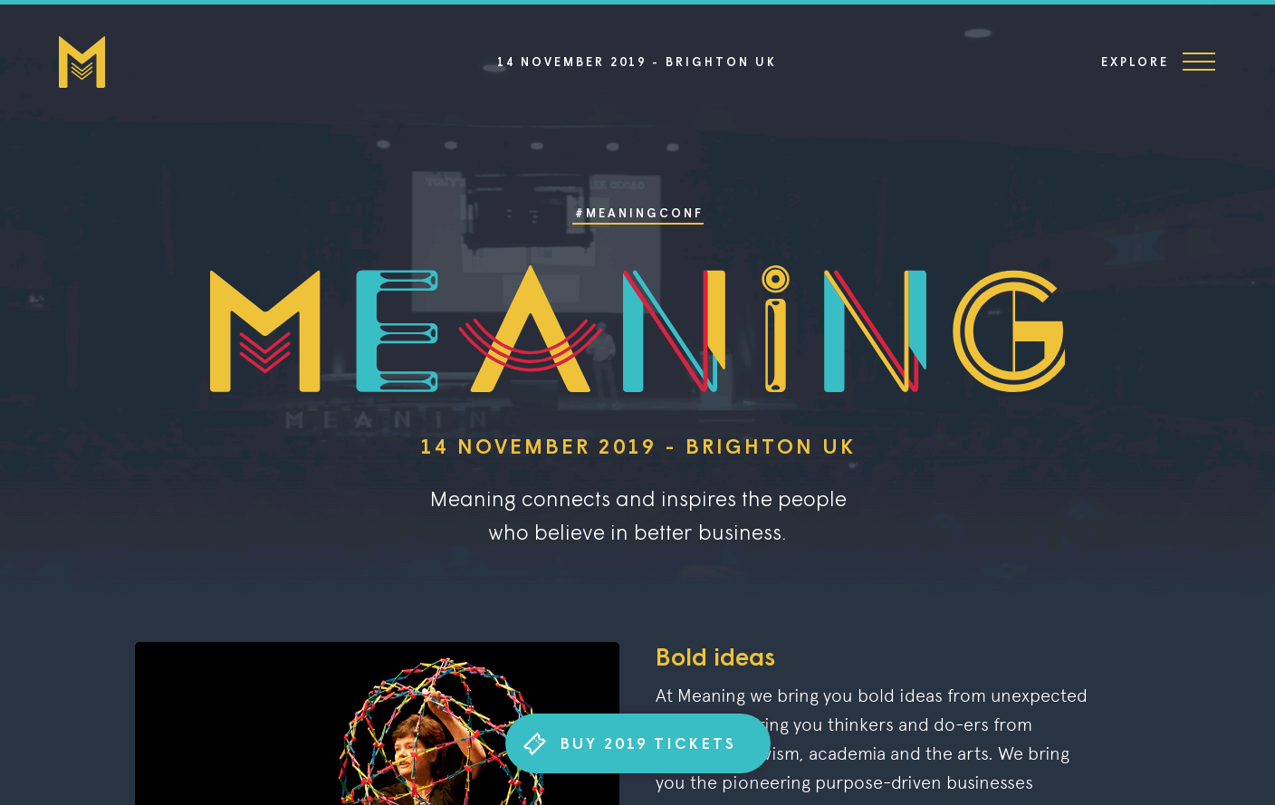 Meaning 2019 Web Design