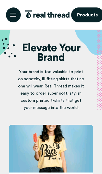 Real Thread Custom T-Shirts  Web Design