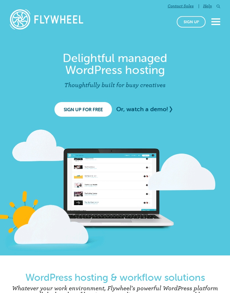 Flywheel | Managed WordPress Hosting for Designers and Agencies  Web Design