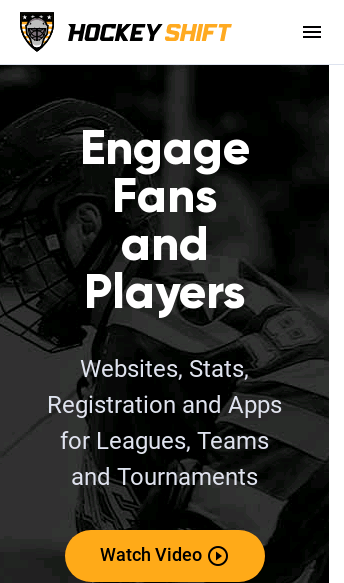 HockeyShift website service  Web Design