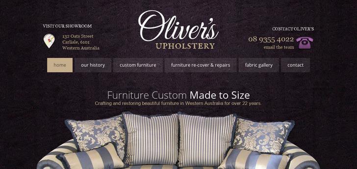 Oliver s Furniture. Oliver s Furniture website has a Great Web Design   Best Web Designs