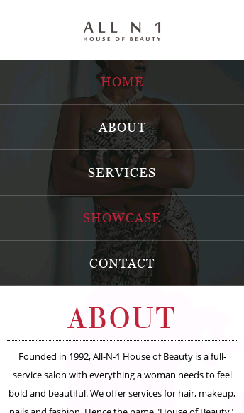 All-N-1 House of Beauty  Web Design