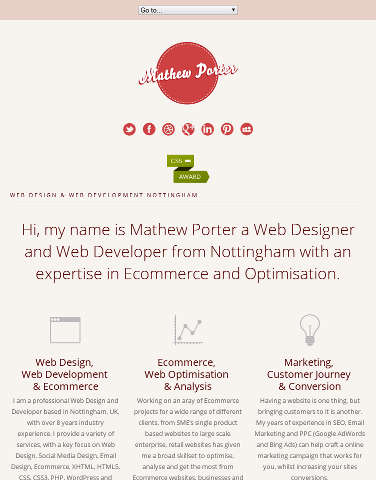 Web Designer Nottingham | Web Developer Nottingham | Mathew Porter  Web Design