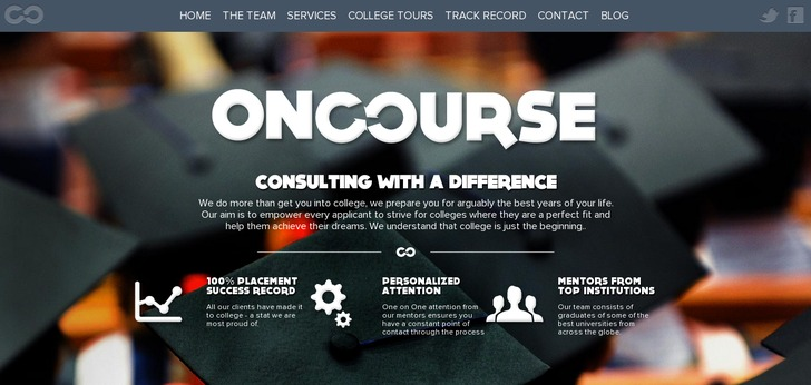 Oncourse consulting website has a great web design best for Web design consultant