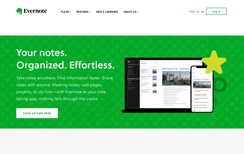 Evernote Web Design