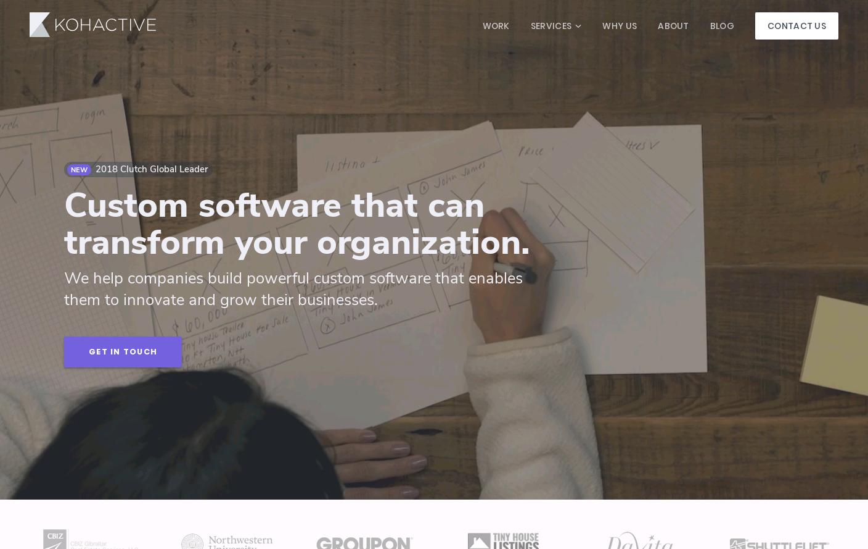 Kohactive Website Is A Web Design Inspiration