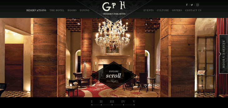 Gramercy park hotel new york website has a great web for Top boutique hotels new york