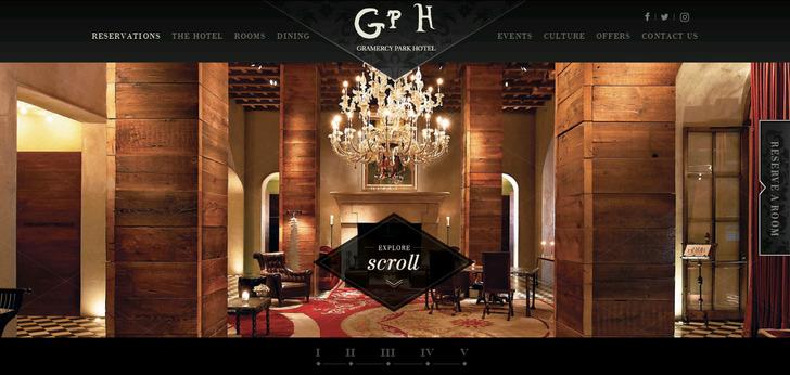 Gramercy park hotel new york web design for Hotel decor inspiration