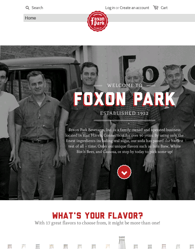 Foxon Park Beverages  Web Design