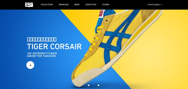 Onit Tiger Shoes Colors Yellow Blue