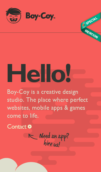 Boy-Coy  Web Design