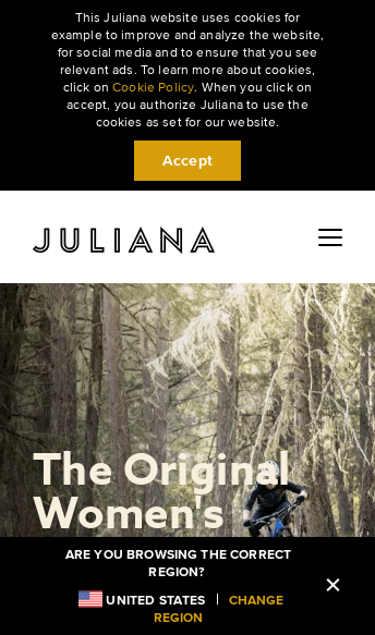 Juliana Bicycles | The Original Women's Mountain Bike  Web Design