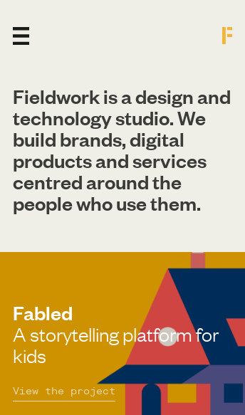 Fieldwork — A Design and Technology Studio  Web Design