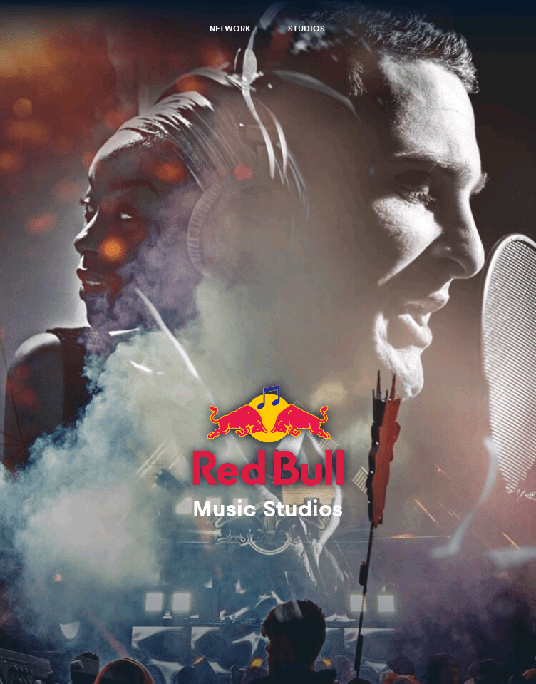 Red Bull Music Studios Network  Web Design