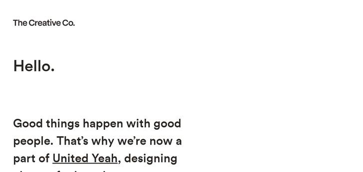 the creative company website has a great web design best web designs