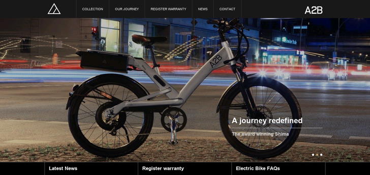 A2B Bikes Website Has A Great Web Design | Best Web Designs