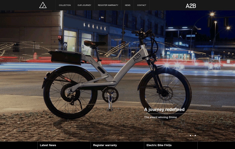 A2b Electric Bike >> A2b Bikes Web Design