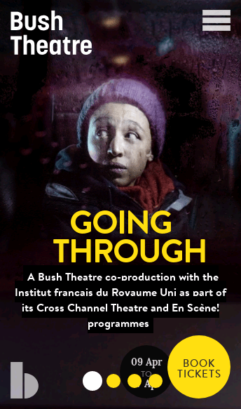 Bush Theatre  Web Design