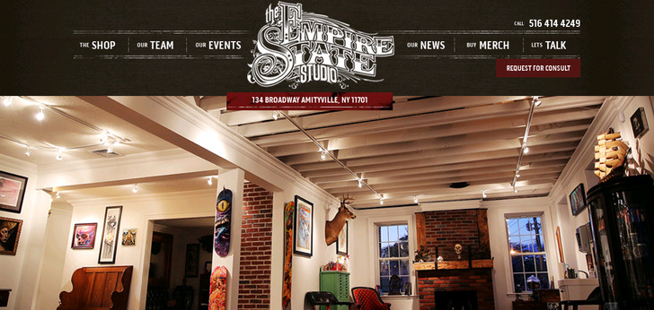 Empire State Tattoo Studio website has a Great Web Design | Best ...