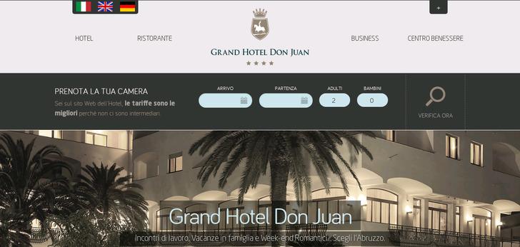 Grand Hotel Don Juan Website Has A Great Web Design Best Designs