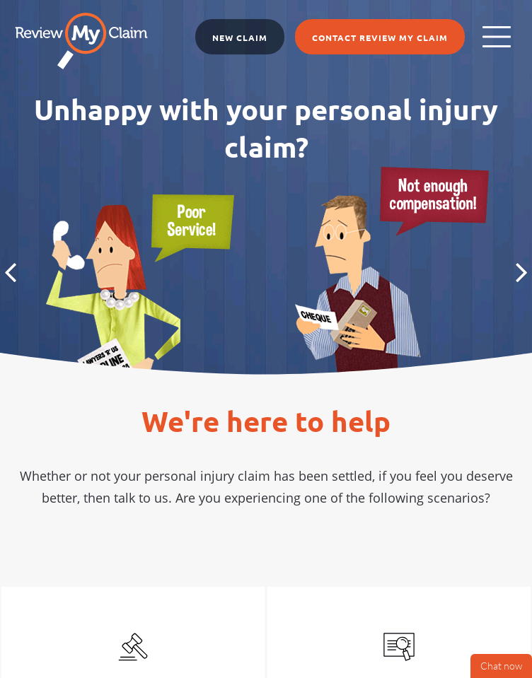 Review My Claim  Web Design