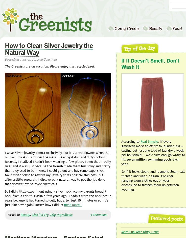 The Greenists  Web Design