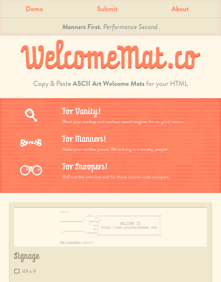 WelcomeMat.co  Web Design