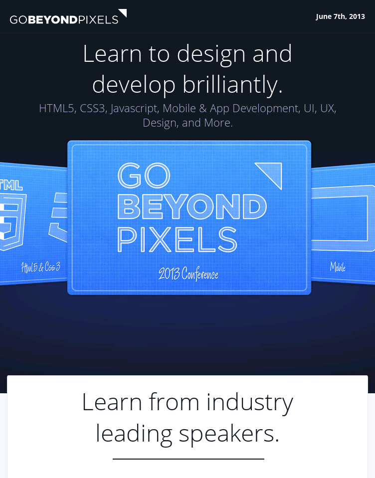 Go Beyond Pixels  Web Design