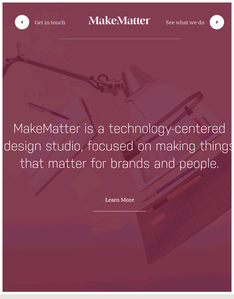 MakeMatter  Web Design
