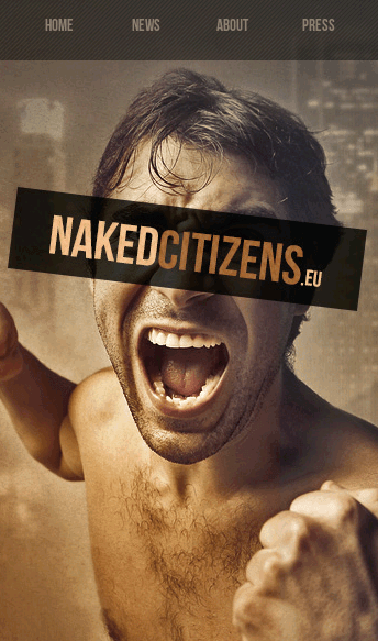 Naked citizens  Web Design