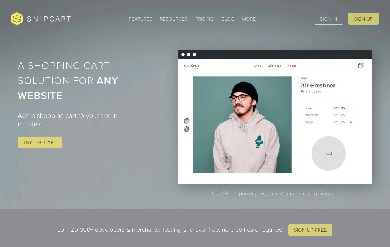 Snipcart Website Is A Web Design Inspiration