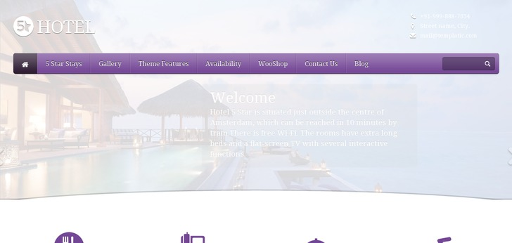 Theme: 5 Star Hotel website has a Great Web Design | Best Web Designs