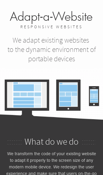 Adapt-a-Website  Web Design