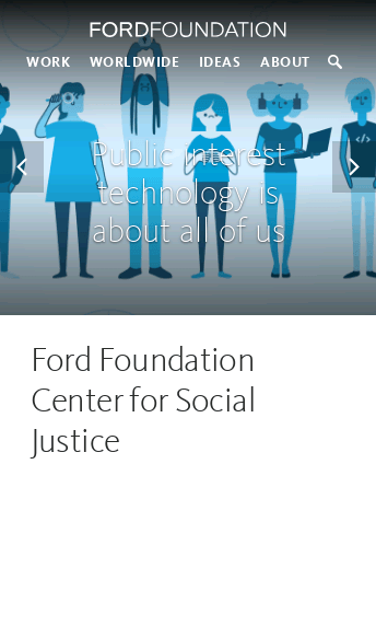 Ford Foundation  Web Design