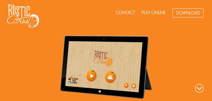 Rustic Citrus Website Has A Great Web Design