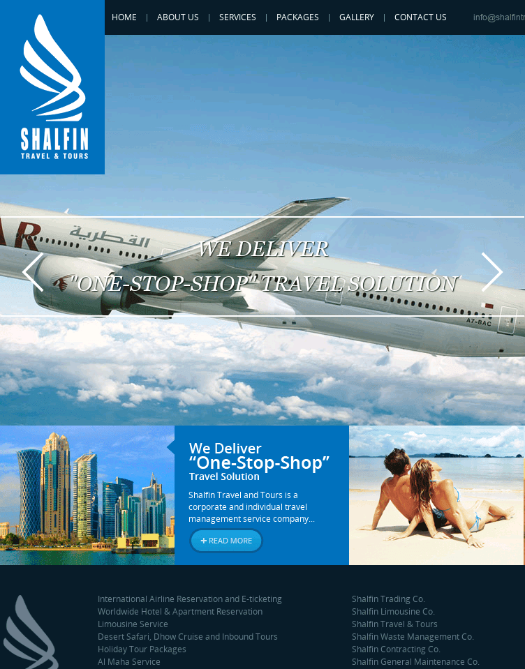 SHALFIN TRAVEL AND TOURS  Web Design