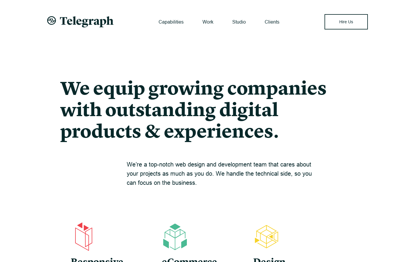 Telegraph | A top-notch web design and development team that cares